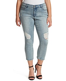 Trendy Plus Size Arrow Straight Ankle Jeans