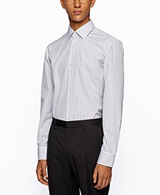 BOSS Men's Jango Striped Slim-Fit Shirt