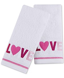 "Love 2-Pc. 11"" x 18"" Fingertip Towel Set, Created for Macy's"