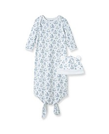 Baby Boys Boating Knot Gown Set