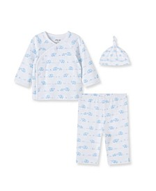 Baby Boys 100% Organic Cotton Elephant 3 Piece Set