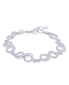 Silver Plated Infinity Design Bracelet