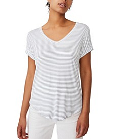 Women's Karly Shorts Sleeve V Neck Top