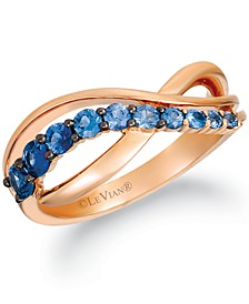 Ombré Sapphire (5/8 ct. t.w.) Statement Ring in 14k Rose Gold