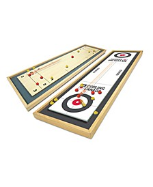 Team Canada Deluxe Wood Tabletop Curling Set