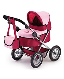 Trendy Pram Stroller for Toy Baby Dolls