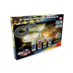 Freeway Chaser Road Racing Slot Car Set - Battery Operated