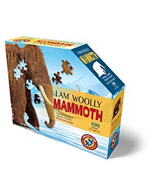 Madd Capp Games Jr. - I Am Wolly Mammoth - 100 Pieces - Animal Shaped Jigsaw Puzzle