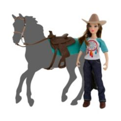 Breyer Classics Freedom Series Natalie Cowgirl Doll and Accessory 5 Piece Set