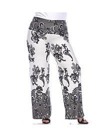 Women's Plus Size Floral Paisley Printed Palazzo Pants