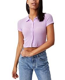 Women's Amelia Polo Placket T-shirt
