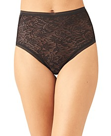 Women's Net Effect Jacquard Lace Brief Underwear