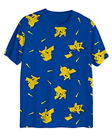 Big Boys Pikachu Lighting Bolt All Over T-shirt