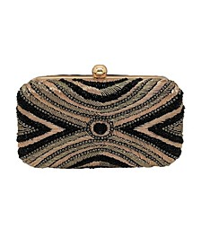 Intricate Fully Beaded Minaudiere Clutch