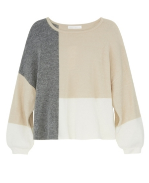 Women's Long Sleeve Color Block Pullover