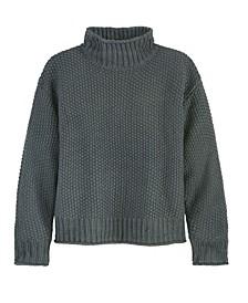 Women's Seed Stitch Roll Neck Sweater