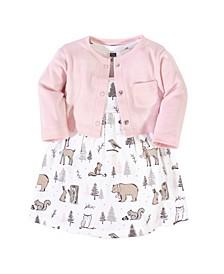 Girl Dress and Cardigan Set