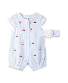 Baby Girls Cherries Romper Set, 2 Piece