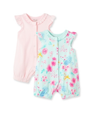 Little Me BABY GIRLS WATERCOLOR ROMPERS, PACK OF 2