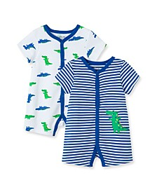 Baby Boys Gator Rompers, Pack of 2