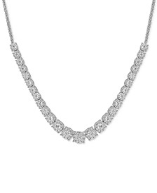 """Diamond Graduated 18"""" Necklace (5 ct. t.w.) in 14k White Gold"""