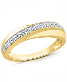 Diamond Diagonal Band (1/5 ct. t.w.) in 10K Gold, 10K White Gold or 10K Rose Gold