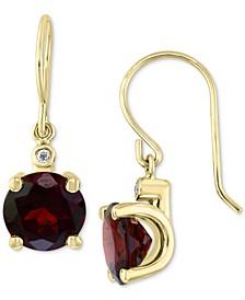 EFFY® Rhodolite Garnet (3-7/8 ct. t.w.) & Diamond Accent Drop Earrings in 14k Gold