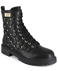 Women's Dorienne-B Stud Quilted Boots
