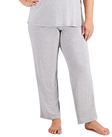 Plus Size Essential Pajama Pants, Created for Macy's