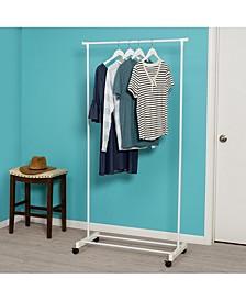 White Portable Garment Rack
