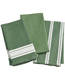 Green Kitchen Towels, Set of 3, Created for Macy's