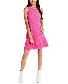 Mini Dede Dot-Print Ruffle-Hem Dress, Created for Macy's