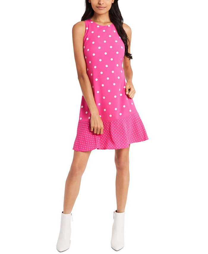 Riley & Rae - Mini Dede Dot-Print Ruffle-Hem Dress