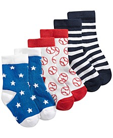 Baby Boys 3-Pack Mix & Match Sock Pack, Created for Macy's