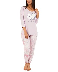Snoopy Tie-Dyed Pajama Set