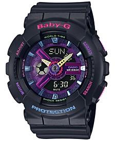 Women's Analog-Digital Black Resin Strap Watch 43.3mm