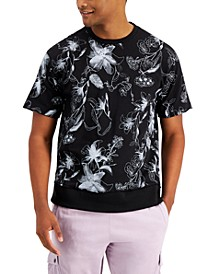 INC Men's Oversized-Fit Floral-Print French Terry Sweatshirt, Created for Macy's