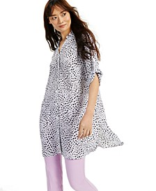 Roll-Tab Printed Tunic, Created for Macy's