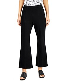 Solid Seamed High-Rise Pull-On Pants, Created for Macy's