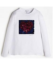 Big Girls Flip Sequin Long Sleeve T-shirt
