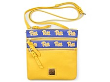 Pittsburgh Panthers Saffiano Triple Zip Crossbody Bag