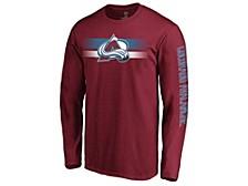 Colorado Avalanche Men's Halftone Long Sleeve T-Shirt
