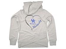 Kentucky Wildcats Girls Heart Tail Cowl-Neck Sweatshirt