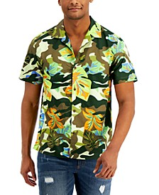 Men's Hudson Regular-Fit Floral-Print Camp Shirt, Created for Macy's