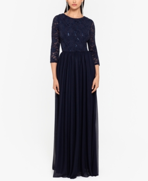 Sequin-Lace Gown