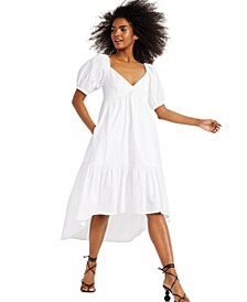 INC Puff-Sleeved High-Low Dress, Created for Macy's