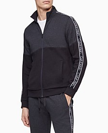Men's Athleisure Logo Tape Full Zip Sweatshirt