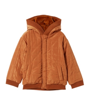 Cotton On TODDLER BOYS QUILTED REVERSIBLE BOMBER JACKET