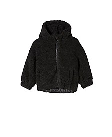 Little Girls Tallulah Teddy Hooded Jacket