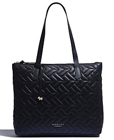 Wood Street Quilted Large Zip Tote